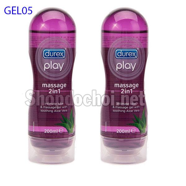 Gel bôi trơn Durex Play Massage 2in1