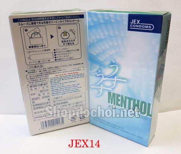 Bao Cao Su Jex Menthol mát lạnh