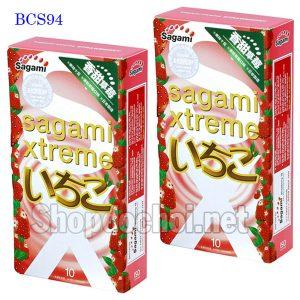 Bao cao su Sagami Xtreme Strawberry