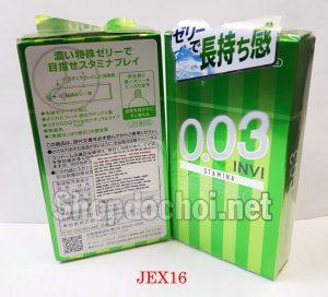Bao cao su Jex Premium 0,03 Invi Stamina