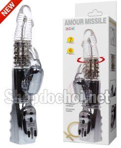 Dương vât giả cao cấp rung xoay ngoáy cực khỏe Amour Missile
