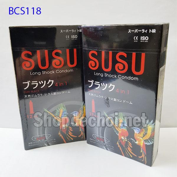 Bao cao su SuSu siêu mỏng kéo dài thời gian - Nhật Bản