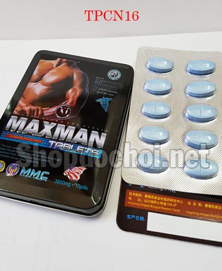 Thuốc cương dương Maxman 3800 trị yếu sinh lý cho nam