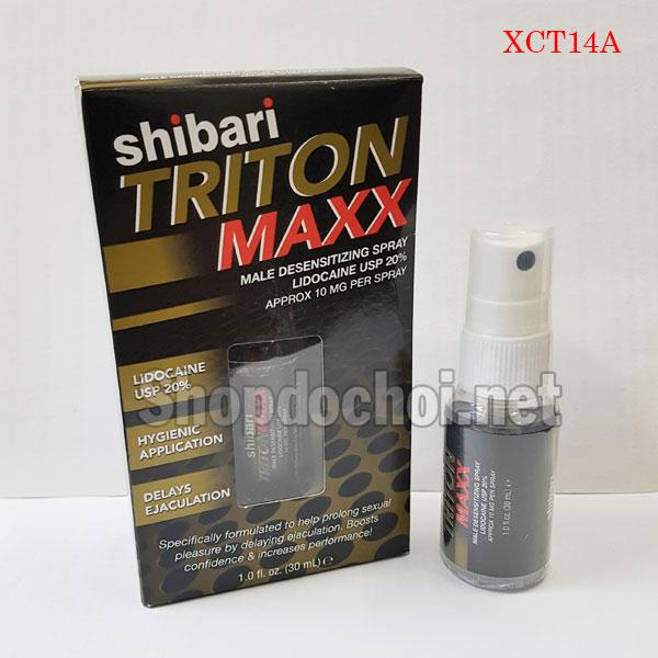 Thuốc xịt chống xuất tinh sớm hiệu quả nhất Shibari Triton Maxx