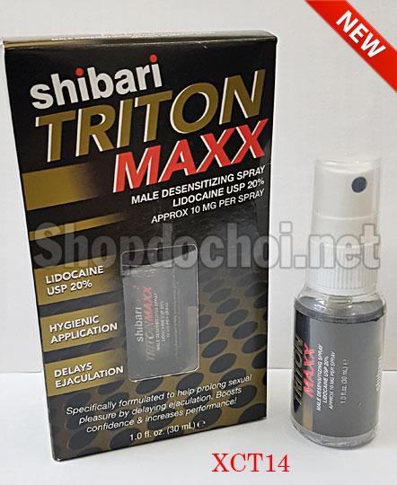 Thuốc xịt chống xuất tinh sớm hiệu quả nhất Shibari Triton Maxx - USA