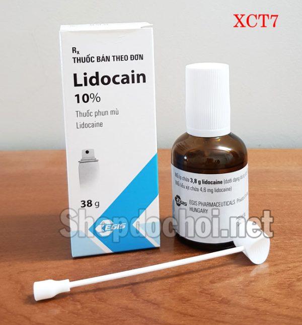 Thuốc xịt trị xuất tinh sớm ở nam giới Lidocain 10%