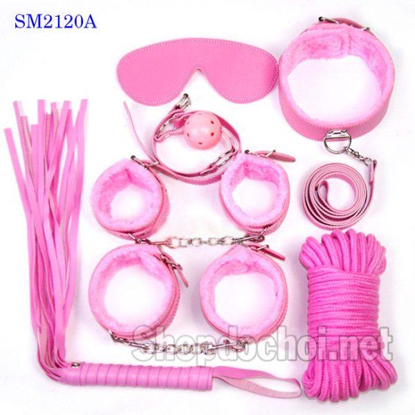 Bộ đồ chơi bạo dâm phòng the 7 in 1 màu hồng