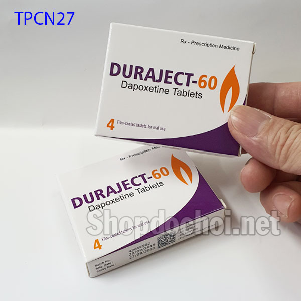 thuốc uống chống xuất tinh sớm Duraject-60 Dapoxetine